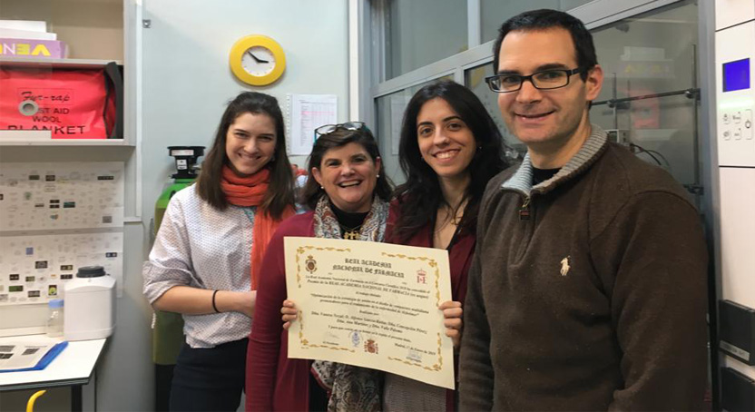 CIB researchers awarded in the Scientific Contest 2018 of the Real Academia Nacional de Farmacia